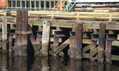Pier repair and rehabilitation civil structural for Wood piling foundation