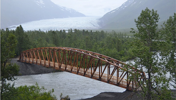 Pedestrian Bridge Complements Scenic Surroundings Civil Structural Engineer Magazine