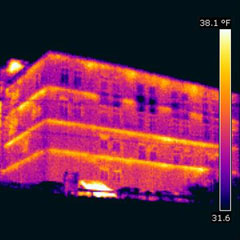 Infrared Images Of Structural Thermal Bridging Civil
